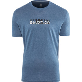 Salomon Agile Graphic T-shirt Homme, poseidon